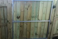 Reinforced wood gate